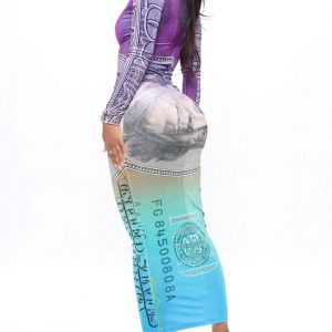 High class in purple and combo maxi dress in dollar 3
