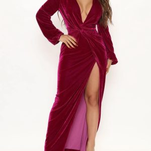 Choose my classy velvet maxi dress 1