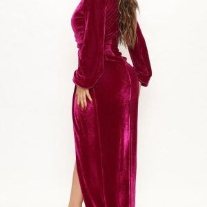Choose my classy velvet maxi dress 3
